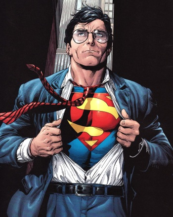 Superman may have to turn back into Clark Kent mid day or mid scene so we will be ready for that to happen.
