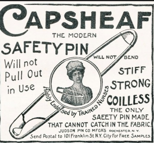 The safety pin was patented in 1849 by Inventor Walter Hunt, thanks for the luck Walter!